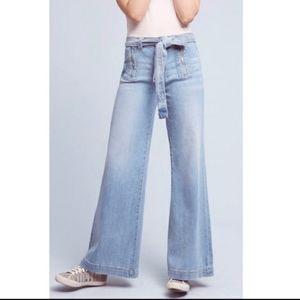 Pilcro High-rise Wide Leg Denim Jeans Light 28